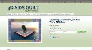 3D AIDS Quilt